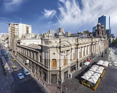 Santiago de Chile w centrum miasta.