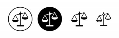 Obraz Scales icons set. Law scale icon. Scales vector icon. Justice