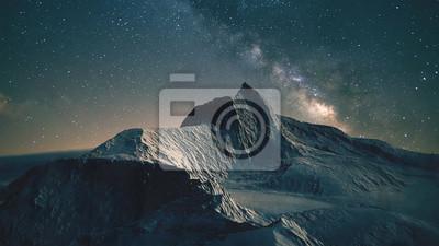 Obraz Scena górska w nocy