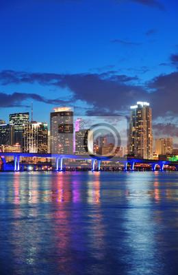 Obraz Scena nocy w Miami