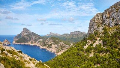 Scenery of Cap de Formentor, Mallorca, Spain.