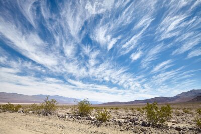 Scenic cloudscape over the Death Valley, US.