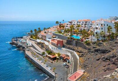 Scenic coastal view of Province of Santa Cruz, Tenerife, Spain.