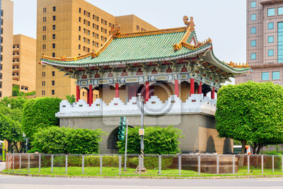 Obraz Scenic colorful view of the East Gate in Taipei, Taiwan
