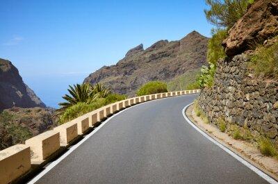 Scenic mountain road, Tenerife.