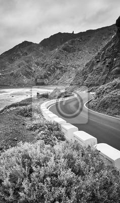 Scenic ocean drive road, Tenerife, Spain.