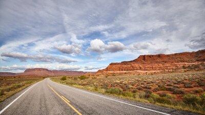 Scenic road in Canyonlands National Park, Utah, USA.
