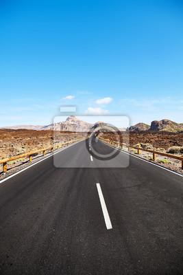 Scenic road in Teide National Park, Tenerife.