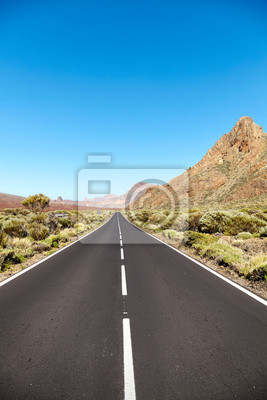 Scenic road in Teide National Park, Tenerife, Spain