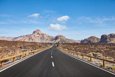 Scenic road in Teide National Park, Tenerife, Spain.