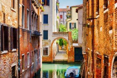 Obraz Scenic widok na Rio Terra Secondo Grande w Wenecji, Włochy