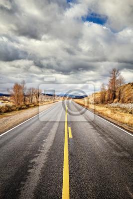 Sceniczna droga w Uroczystym Teton parku narodowym, Wyoming, usa.