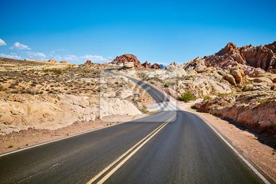 Sceniczna pusta droga, podróży pojęcie, Nevada, usa.