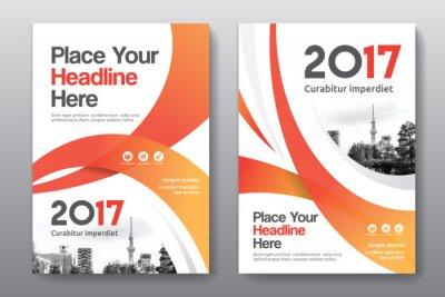 Obraz Schemat Kolor pomarańczowy z miasta tle Business Book Pokrycie szablon w formacie A4. Można dostosować się do broszury, sprawozdania rocznego, czasopisma, plakat, prezentacja Corporate, portfel, ulotk
