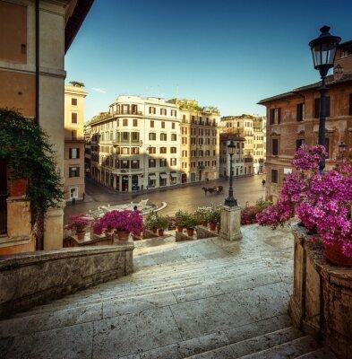 Obraz Schody Hiszpańskie, Rzym, Włochy