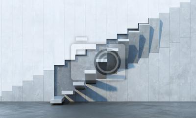 Obraz schody prowadzące w górę