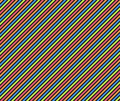 Obraz Schräge Streifen w fioletowy, Grün różowy und blau auf Schwarz