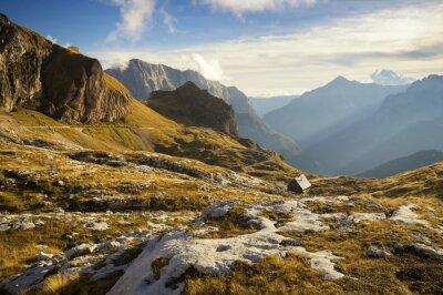 Obraz Schronisko wysokogórskie w Alpach Julijskich