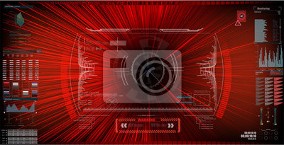 Sci-Fi Futuristic HUD Screen Interface. Wirtualna rzeczywistość. EPS10