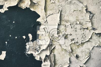 Ściana z łuszczenie farby, tło grunge, kolor stonowanych obraz.