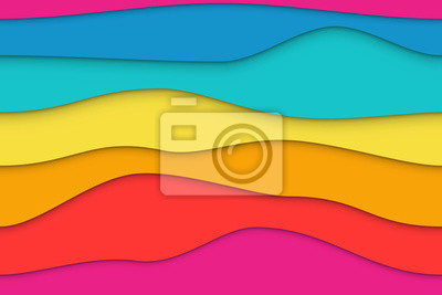 Obraz Seamless Colorful Wavy Paper Layers Background