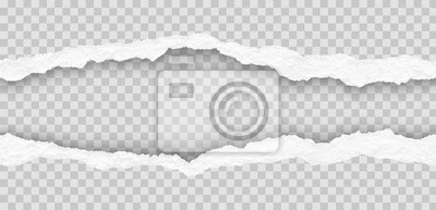 Obraz seamless torn paper edges, vector illustration