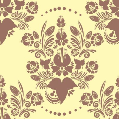 Obraz seamless vintage pattern with floral ornament