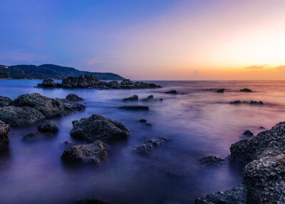 Seascape landscape nature with sky and cloud in twilight