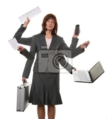 Sekretarz wiele rąk na stres