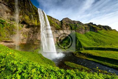 Obraz Seljalandsfoss jednym z najbardziej znanych wodospadu islandzkiego