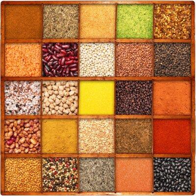 Obraz semi e aromi collage