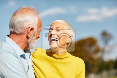 Obraz senior couple happy elderly love together