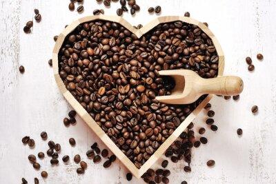 Obraz Serce z ziaren kawy