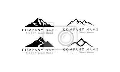Obraz set logo mountain