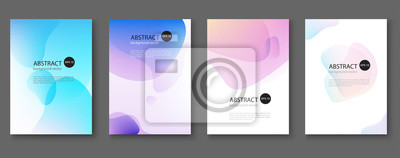 Obraz Set of abstract vector backgrounds with line waves.Vector illustration.