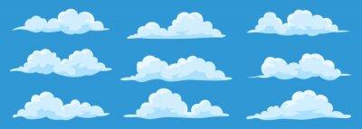 Obraz Set of cartoon clouds