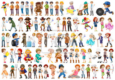 Obraz Set of people character