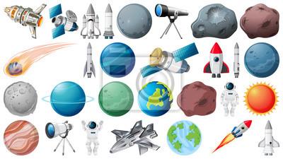 Obraz Set of space element