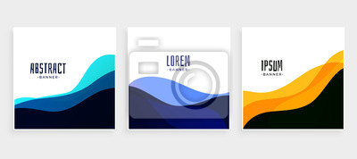 Obraz set of wave banners in different colors