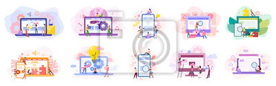 Obraz Set of website development banner. Web page programming