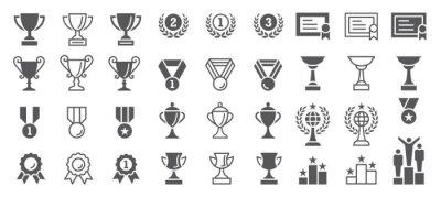 Obraz Set of Winning Vector Icons