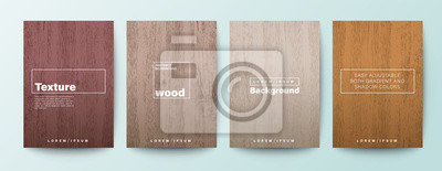 Obraz Set of wood texture background. Wooden board background for Brochure, Flyer, Poster, leaflet, Annual report, Book cover, Banner, Presentation, Website, App, wallpaper.