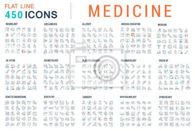 Obraz Set Vector Line Icons of Medicine