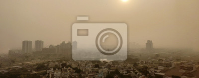 Obraz Severe Delhi Air Pollution as seen from a tall building day after Diwali