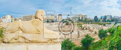 Sfinks w Kom Ad Dikka archeologicznym, Aleksandria, Egipt