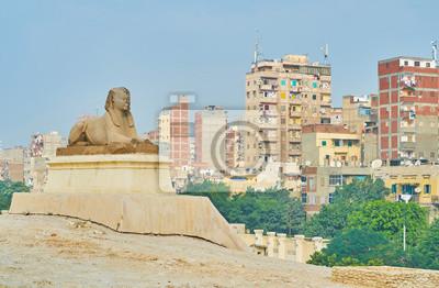 Sfinks w mieście, Aleksandria, Egipt