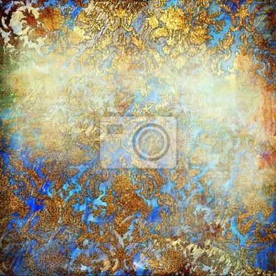 shabby golden-niebiesko