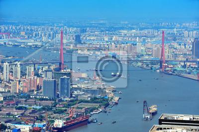Shanghai antenę w ciągu dnia