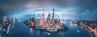 Obraz Shanghai skyline at night