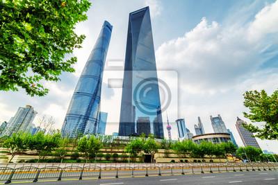 Shanghai Tower i Shanghai World Financial Center